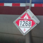 Hazardous materials placard with identification number