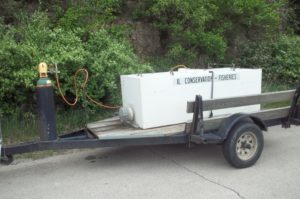 Government trailer with hazmat