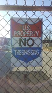 U.S. Property sign