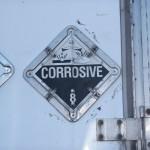 Hazard class 8 corrosive placard