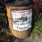 Old cooking oil container