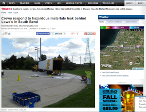 Webpage of WSBT in South Bend, IN