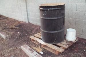 Improper storage of hazardous waste
