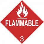 Hazard Class 3 Flammable Liquid Placard