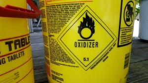Oxidizer (Division 5.1) HazMat Label