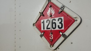 Class 3 Flammable Liquid Placard with Identification Number 1263