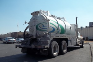 Used oil in cargo tank truck