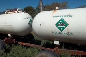 "Anhydrous ammonia in bulk packaging ""Inhalation Hazard"""