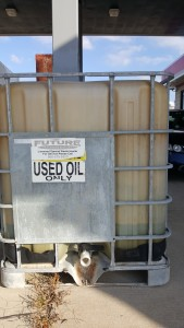 Used oil in IBC