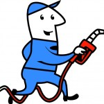 Man with fuel hose