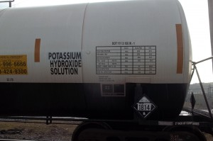 Qualification marking on tank car