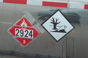 Marine Pollutant Mark and Class 3 Placard