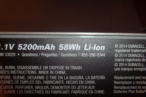 58 Wh lithium ion battery