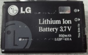 Lithium ion battery for cell phone