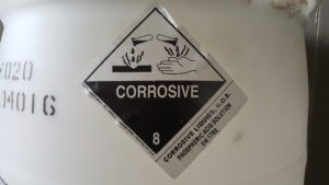 Image of Class 8 Corrosive Label