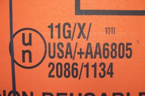 Specification packaging marking on IBC