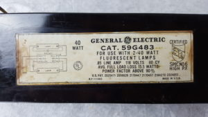 Light ballast may contain PCBs