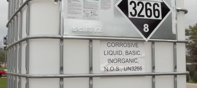 HazMat Labels, Markings, and Placards on an Intermediate Bulk Container