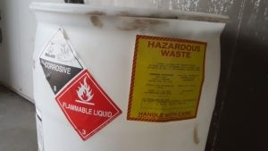 Corrosive Flammable Hazardous Waste