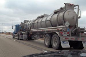 Cargo Tank Truck UN2810 on Highway