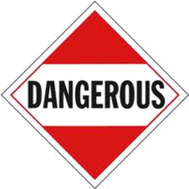 when not to use the dangerous placard for shipments of hazmat