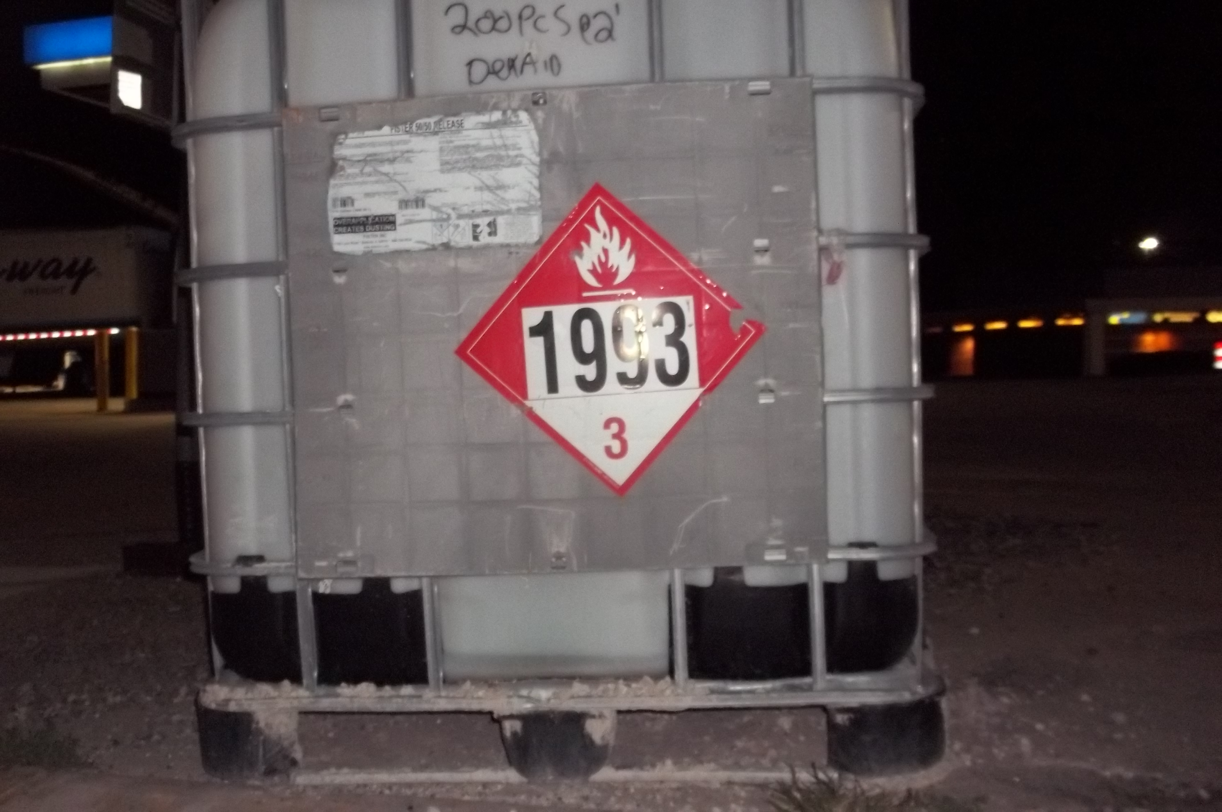 HazMat Labels, Markings, and Placards on an Intermediate