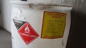 Corrosive Flammable Hazardous Waste