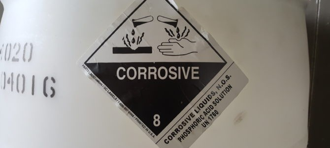 Quick Take: Determination of Packing Group for a Class 8 Corrosive