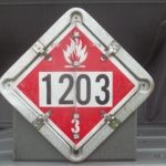 Placard and ID Number for Gasoline