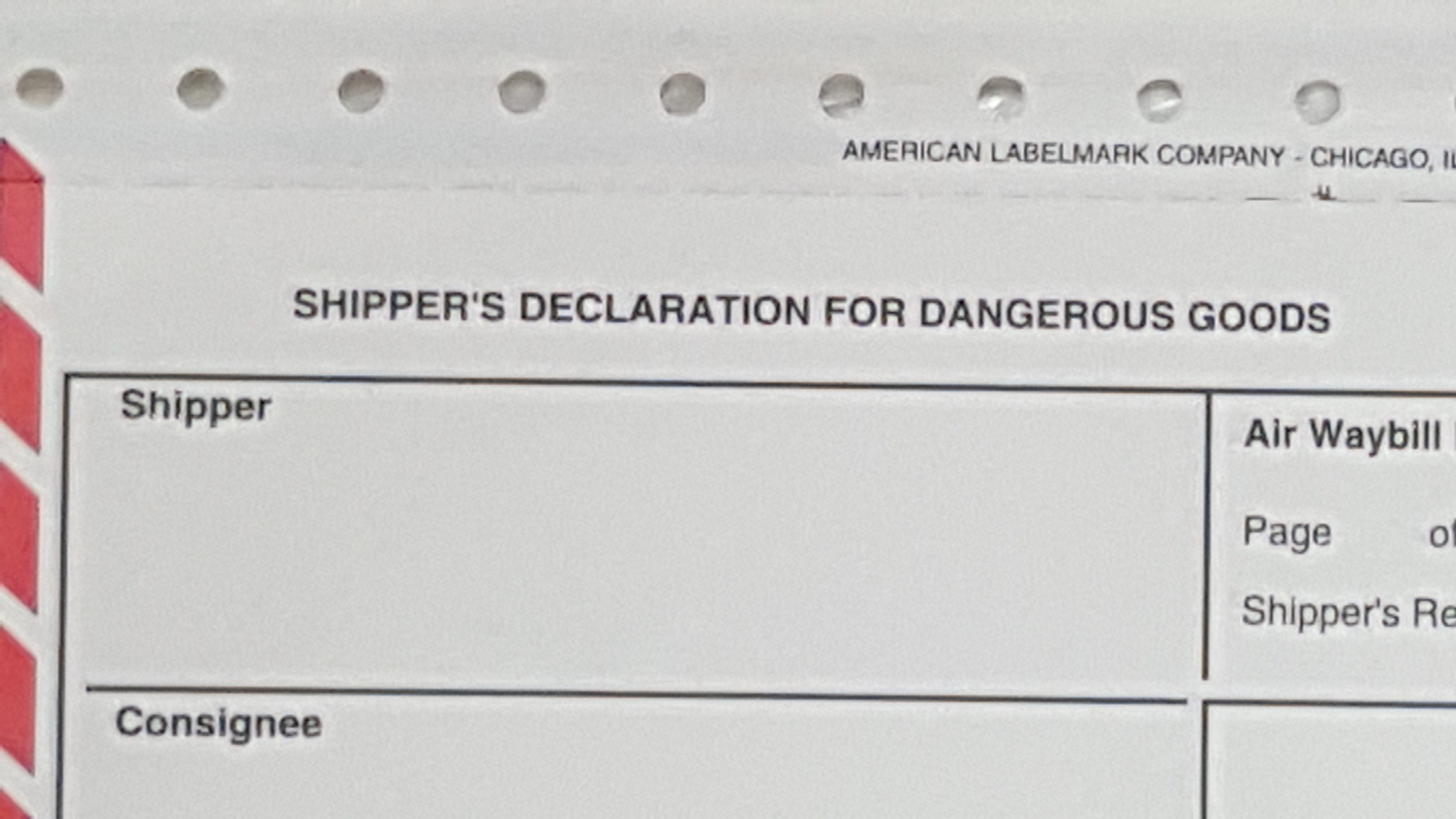 Shippers declaration for dangerous goods daniels training services title for iatas shippers declaration for dangerous goods thecheapjerseys Choice Image